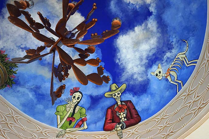 day of dead ceiling painting