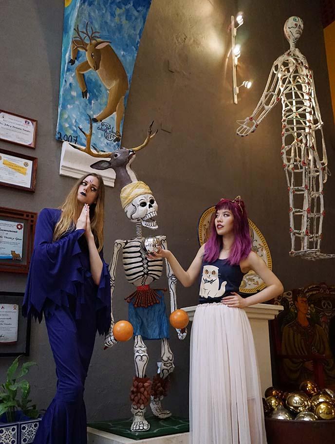 weird mexico goth skulls