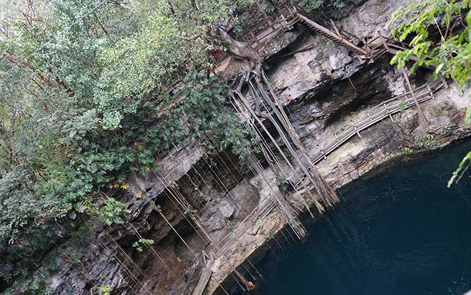 cenote ek balam, swimming hole