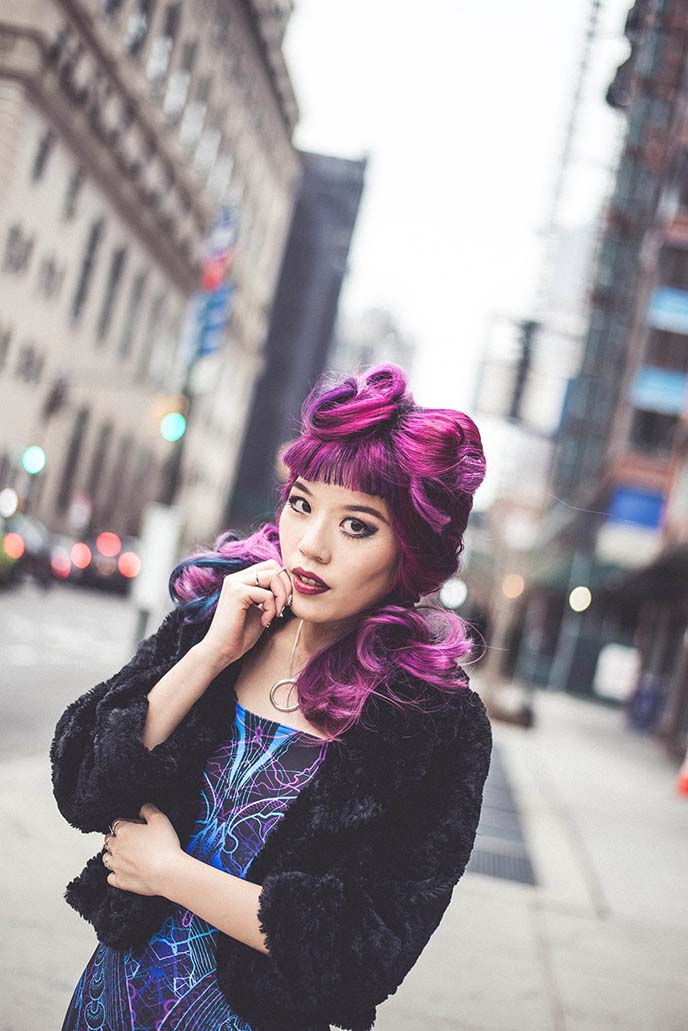la carmina hair, goth model
