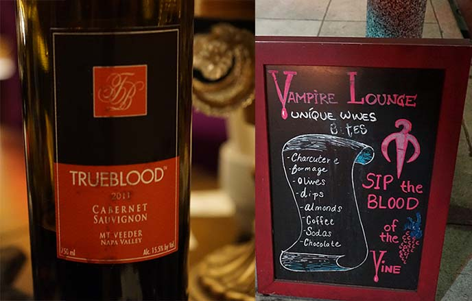 vampire wine bottle, true blood cabernet sauvignon