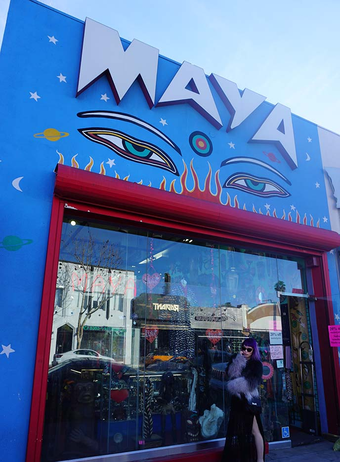 maya store, melrose los angeles