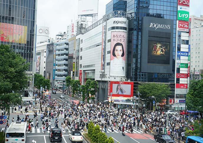 tokyo busiest street crossing shibuya