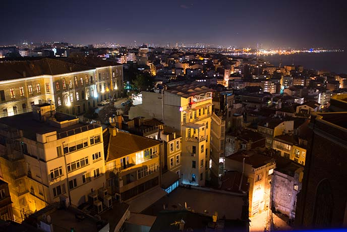panorama bar, istanbul view