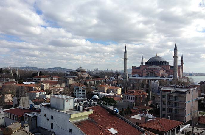 hagia sophia turkey view
