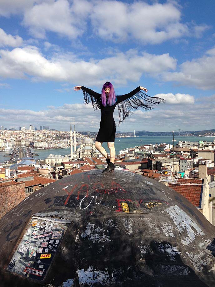 Istanbul Secret Rooftop, turkey Best View, instagrammers location blue mosque roof