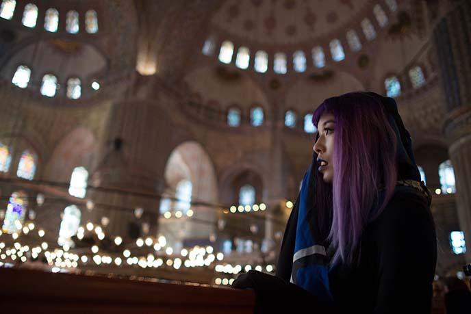 women cover head headscarves istanbul