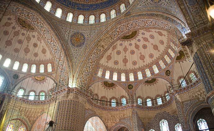 interior ceiling blue mosque