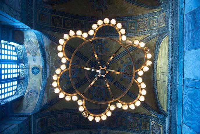 chandeliers lights hagia sophia