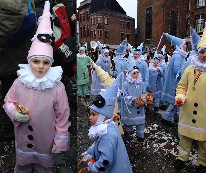 kids harlequin Pierrots costumes