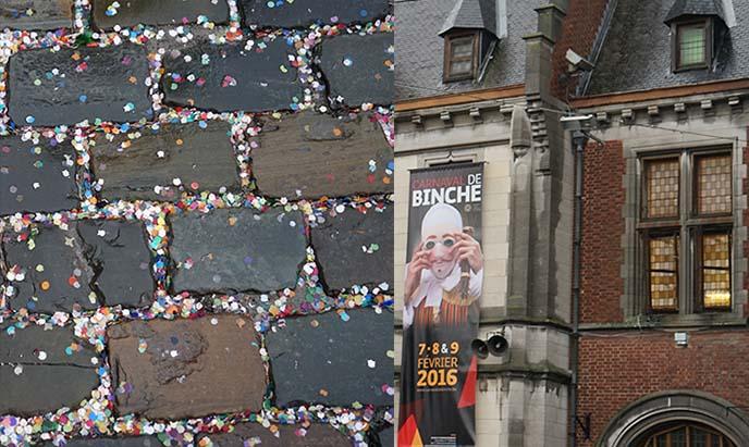 binche street confetti, logo