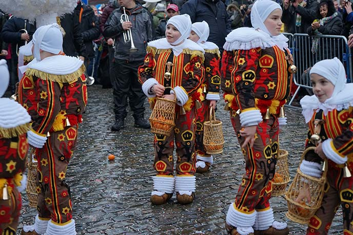 young gilles parade binche carnival
