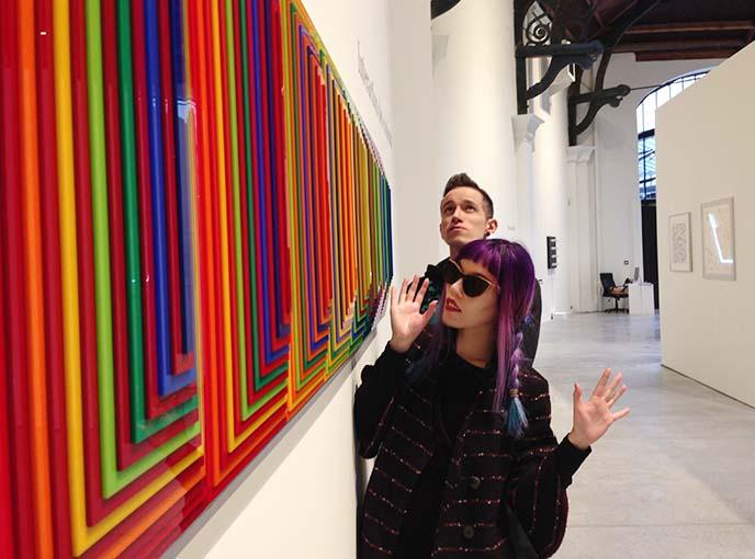 op art exhibit, galllery