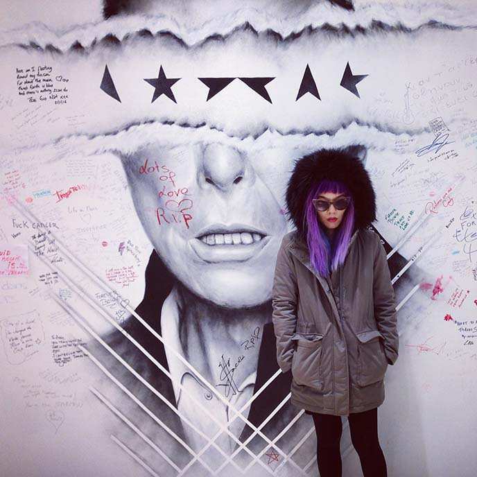 david bowie blackstar mural