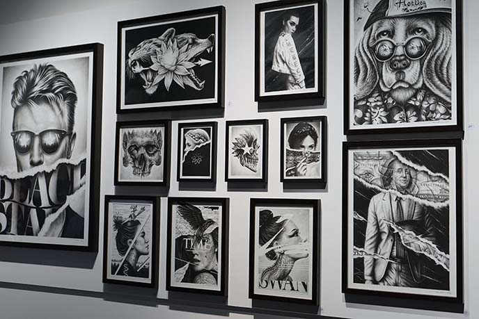 noir artist belgium gallery paintings