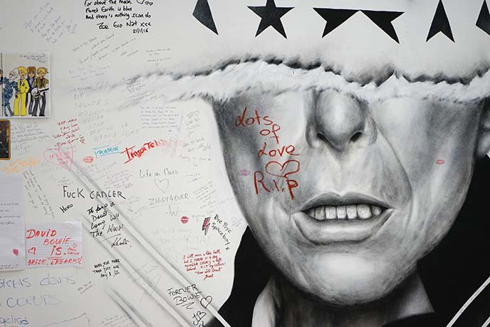 David Bowie Mural Painting brussels