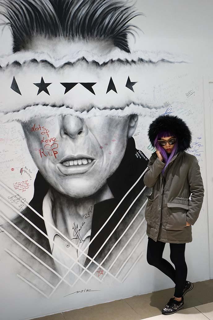 blackstar david bowie album mural