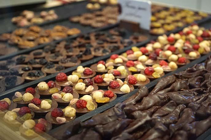 nut fruit chocolates