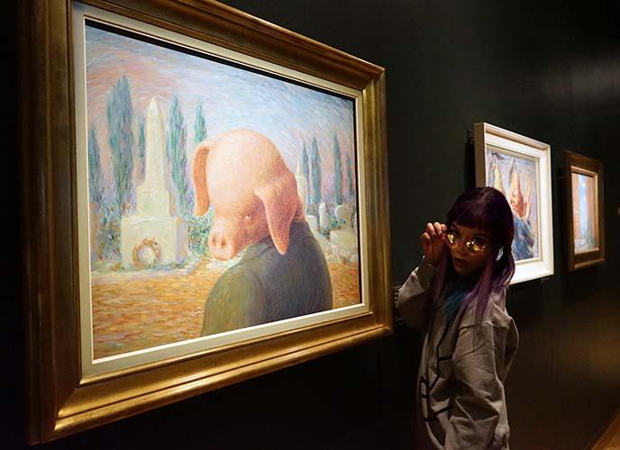 magritte rare works, pig