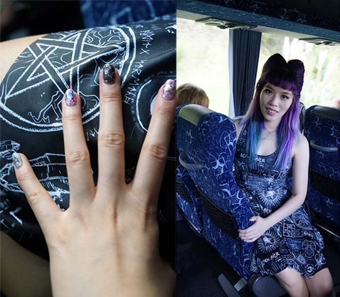 pentagram goth witch dress