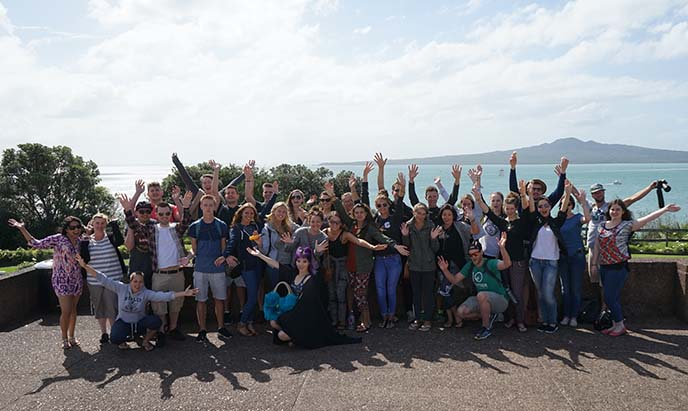 contiki tour group photo
