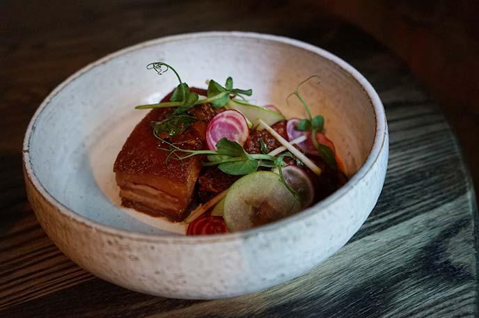 pork belly, auckland fine dining
