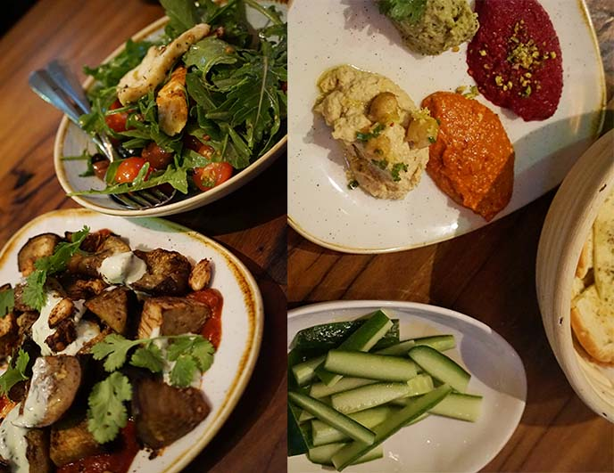ceru restsaurant menu, mezze appetizers