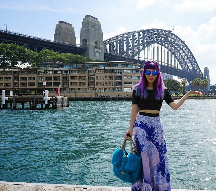 sydney harbour bridge fashion blogger