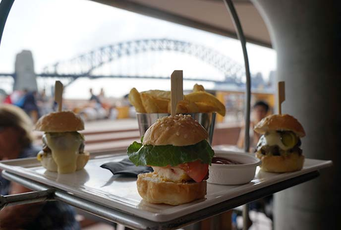 restaurant with view, sydney harbor