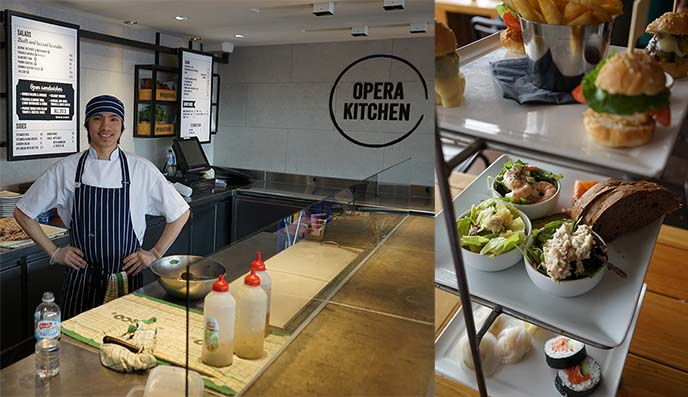 opera kitchen menu, food