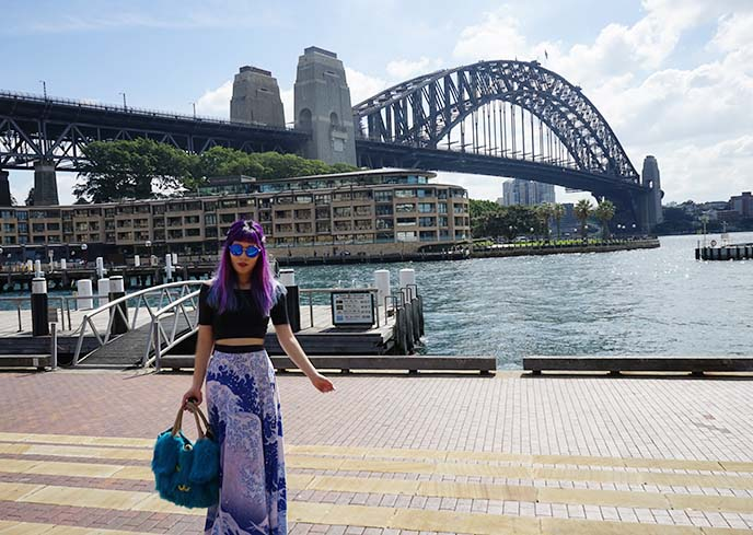 fashion blogger sydney bridge
