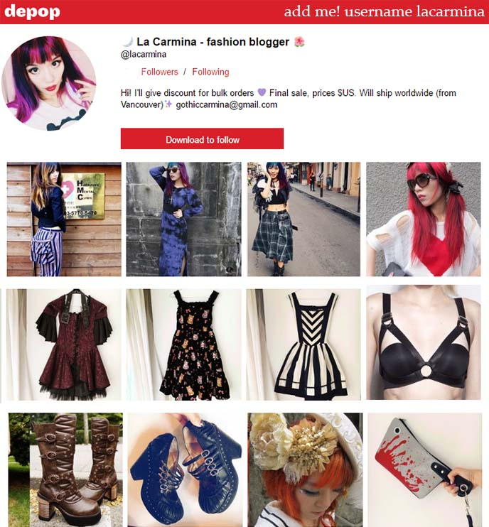 depop screenshop, using app, explore items