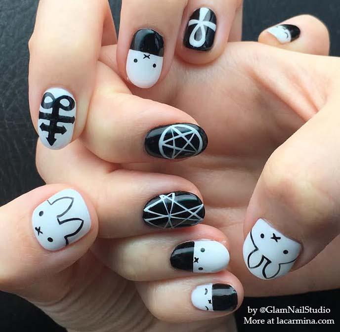 miffy nail art, nail polish nijntje