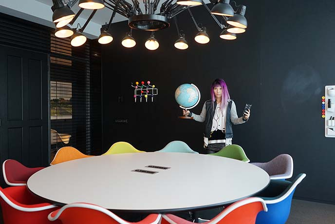 rainbow chairs dining table, interior decor