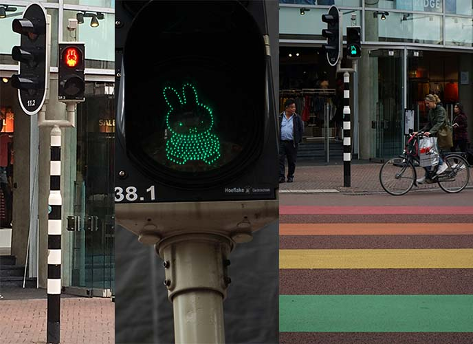 miffy traffic lights, street pedestrian crossing