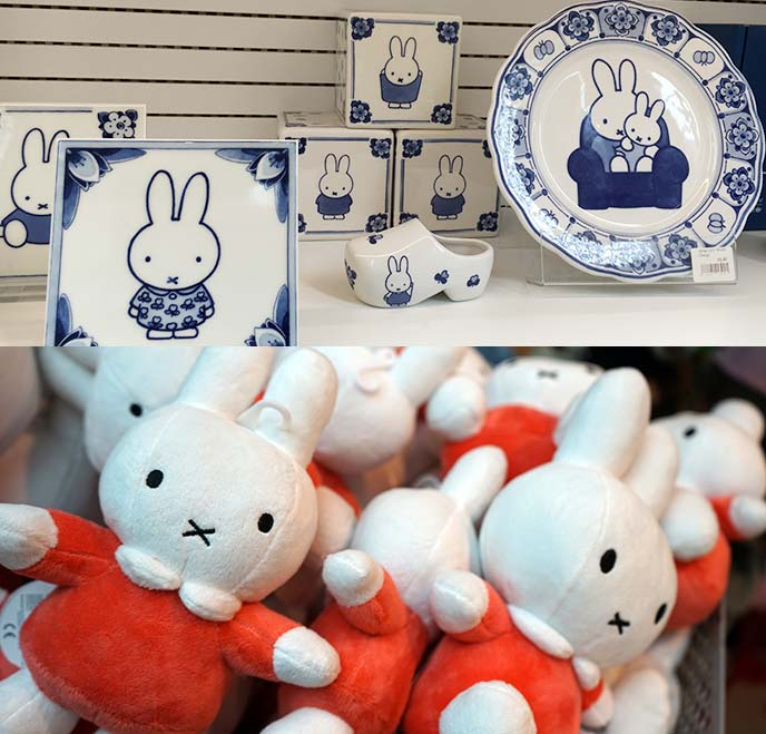 dutch blue miffy rabbit plates ceramics