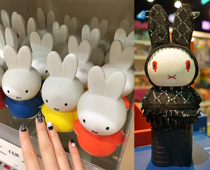 goth miffy statue, art parade