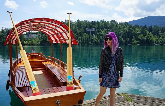 lake bled rowboats