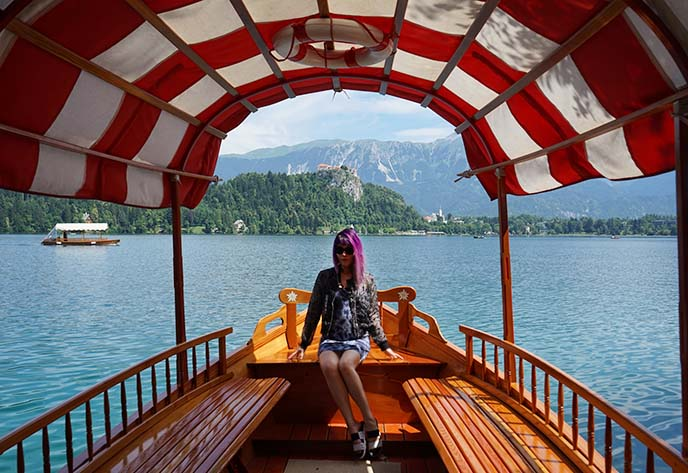 boat ride lake bled, slovenia