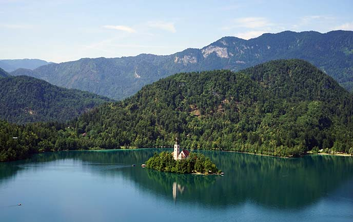 slovenia famous island on lake