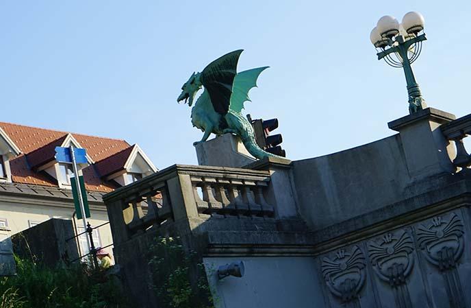 dragon statue slovenia