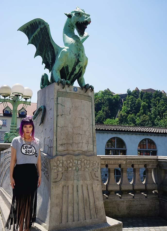 ljubljana dragon bridge slovenia
