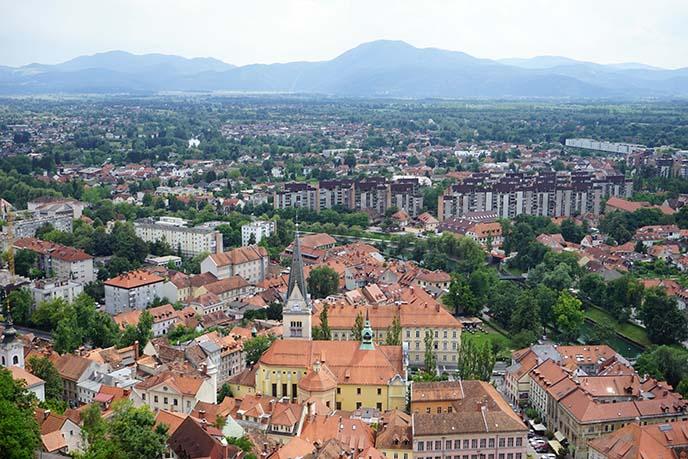 red rooftops ljubljana scenery