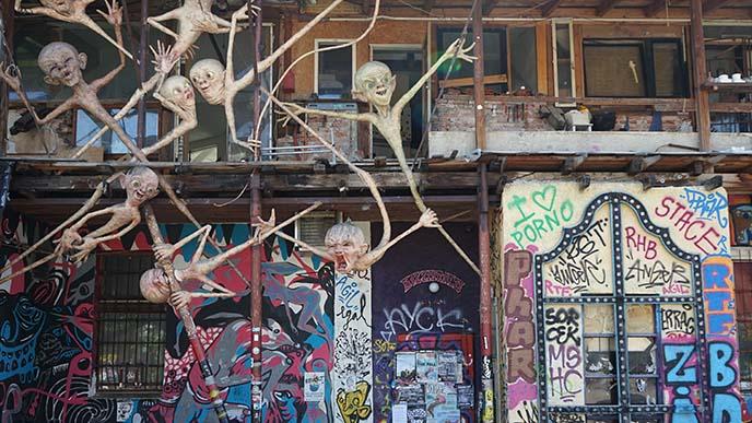 metelkova graffiti, murals