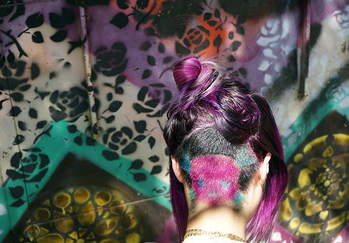 artistic pattern undercut hair