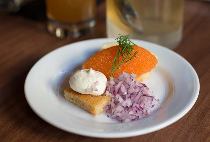 stockholm red caviar, swedish appetizers