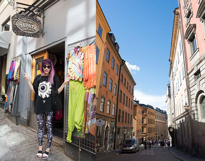gamla stan shopping, fashion