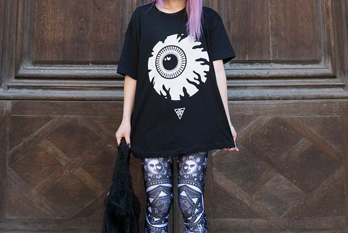 long clothing mishka eyeball shirt