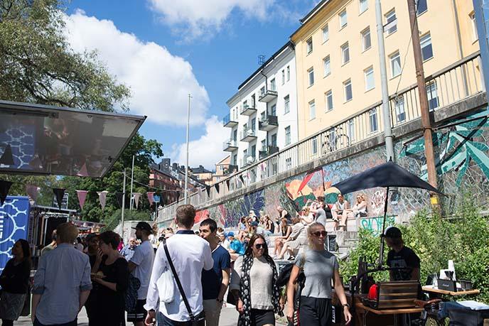 hornstull market, sweden hipsters