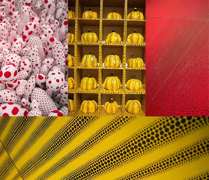 yayoi kusama dots, patterns, textures